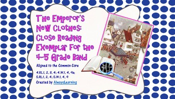 Close Read in the 4-5 Grade Band: The Emperor's New Clothes