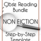 Close Reading Bundle - Step-by-Step Template - NON FICTION