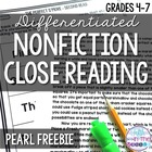 Close Reading Nonfiction Texts for Upper Elementary - Pear