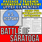 Close Reading Passage{Battle of Saratoga, Help from France