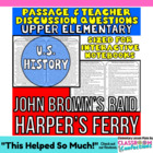 Close Reading Passage {John Brown's Raid on Harpers Ferry