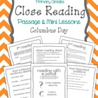 "Close Reading Passage & Mini Lessons ""Columbus Day"""
