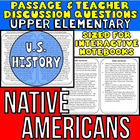 Close Reading Passage {Native Americans for UPPER ELEMENTARY}