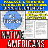 Native Americans {Close Reading Passage for UPPER ELEMENTARY}
