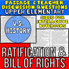 Close Reading Passage {Ratification and Bill of Rights for