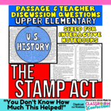 Close Reading Passage {The Stamp Act for UPPER ELEMENTARY}