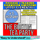 Close Reading Passage {The Tea Act - Boston Tea Party  4th Grade}