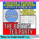 Close Reading Passage {The Tea Act - Boston Tea Party for