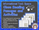 Close Reading Passages and Activities: Informational Text - Space
