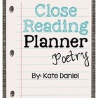 Close Reading Planner - Poetry {Freebie}
