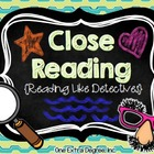 Close Reading: Reading Like Detectives! {Editable!}