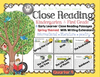 Close Reading for Kindergarten & First Grade: Spring Quarter 4 Bundle