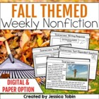 Close Reading for the Fall (14 Nonfiction Passages)