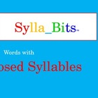 MAP Prep Reading Closed Syllables SyllaBits Fluency Buildi