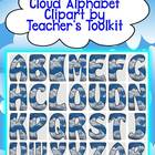Clouds Alphabet Clipart Commercial Use OK