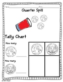 Coin Spill & Tally Chart {quarter, penny, dime, nickel}