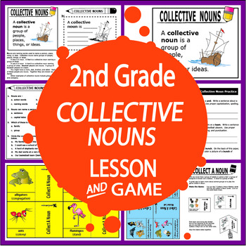 Collective Nouns-Second Grade Common Core Lesson