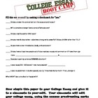 College Essay Boot Camp Peer-Editing