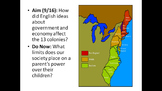 US History Unit 1 - Colonies Powerpoints