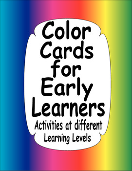 Color Cards for Early Learners