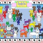 Color Cats Graphic Set