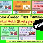 Color-Coded Fact Families Mental Math Strategies BUNDLE