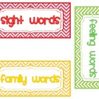 Color-Coded Word Wall Kit