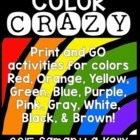 Color Crazy - Printables for Teaching Colors