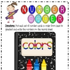 Color Day Number Order