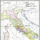 Color Map of Ancient Italy before the Punic Wars
