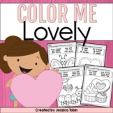 Valentine's Coloring Sheets- Color Me Lovely