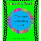 Bright Color My World Classroom Decor Pack--DN Manuscript