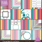 Color Pop Seller Pack ~ Digital Papers, Frames, & Page Elements