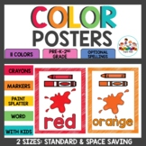 Color Posters ~ Classroom Decor ~Rainbow Scribble Theme