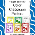 Color Posters: Ripple Themed Classroom Decor