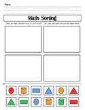 Color Shape Sort Cut and Paste Worksheet