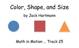 Color, Shape, and Size by Jack Hartmann Song Cards