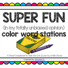 Color Word Stations (goes great with Pete the Cat)