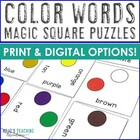 Color Words Magic Square