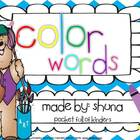 Color Words {Write, Trace, Paste, Color and Find}