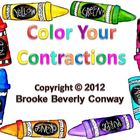 Color Your Contractions Task Cards