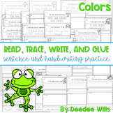 Color and Number Words: Read, Trace, Glue, and Draw