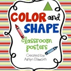 Color and Shape Classroom Posters