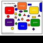 Color and Shape Match and Sort SMARTBoard File