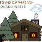 Color and Write-Lets go Camping Printables