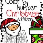 Color by Number Addition Christmas