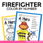 Color by Number Firefighter