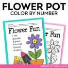 Color by Number Flower Pot