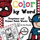 Color by Words - Superheroes