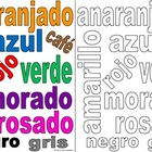 Color the Spanish Color Words and Class Sign